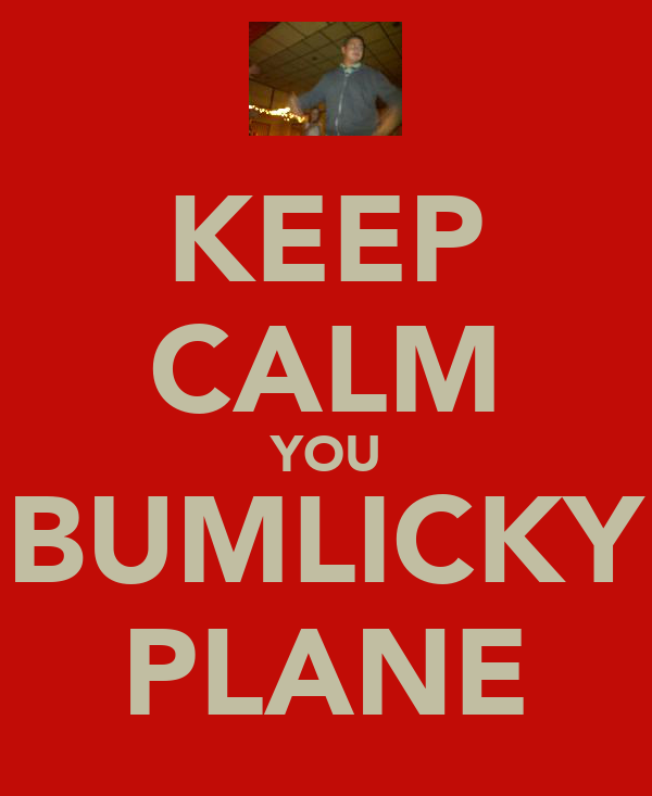 KEEP CALM YOU BUMLICKY PLANE