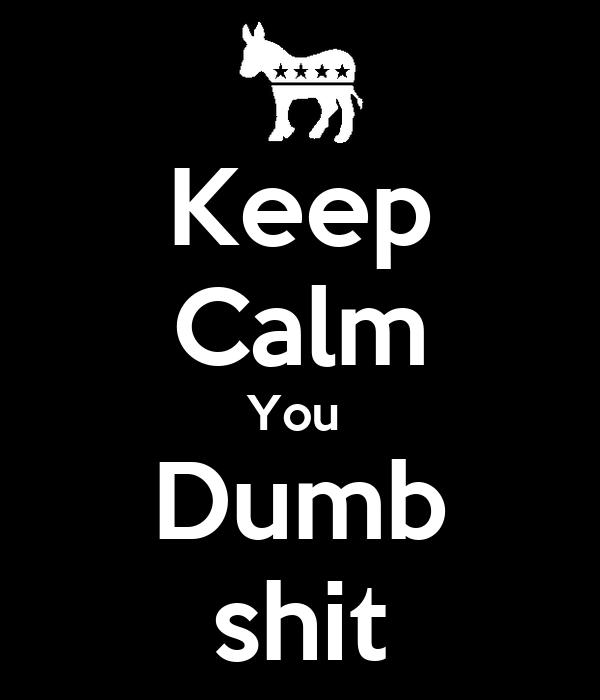 Keep Calm You  Dumb shit