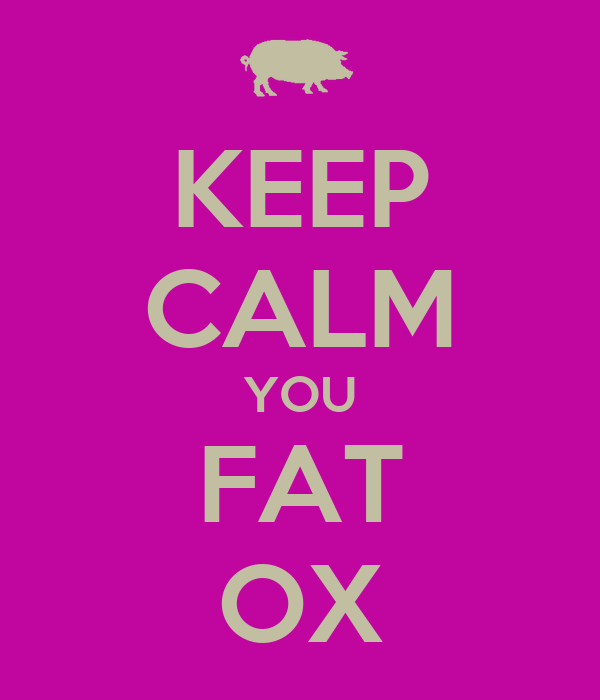 KEEP CALM YOU FAT OX