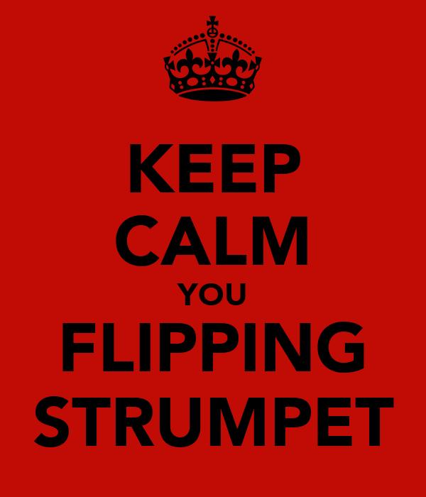 KEEP CALM YOU FLIPPING STRUMPET