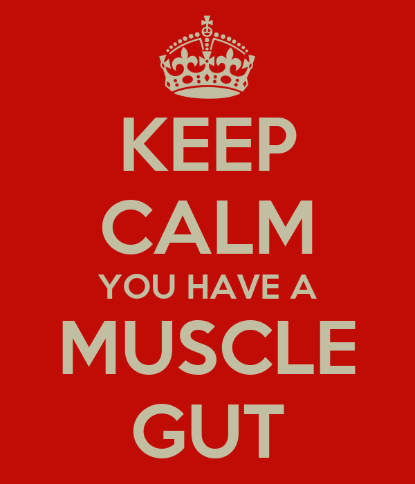 KEEP CALM YOU HAVE A MUSCLE GUT
