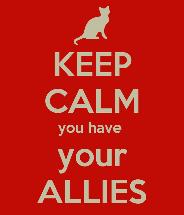 KEEP CALM you have   your  ALLIES