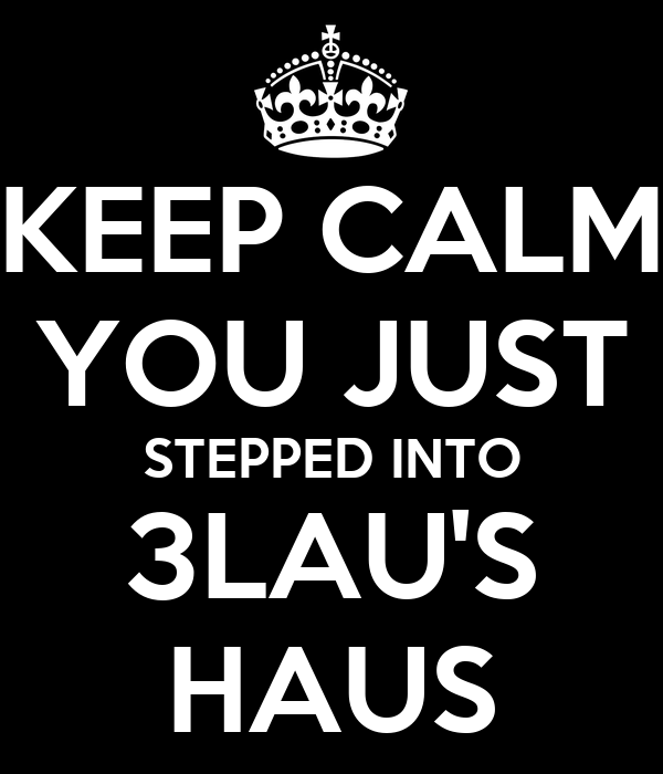 KEEP CALM YOU JUST STEPPED INTO 3LAU'S HAUS