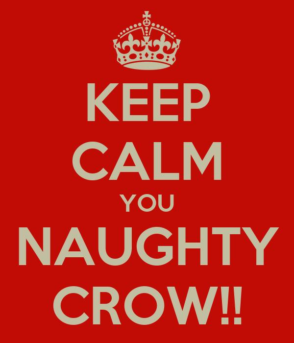 KEEP CALM YOU NAUGHTY CROW!!