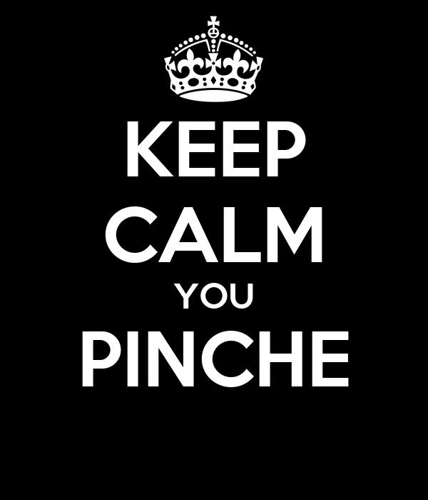 KEEP CALM YOU PINCHE