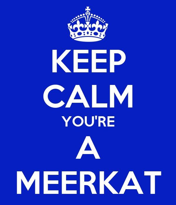 KEEP CALM YOU'RE A MEERKAT