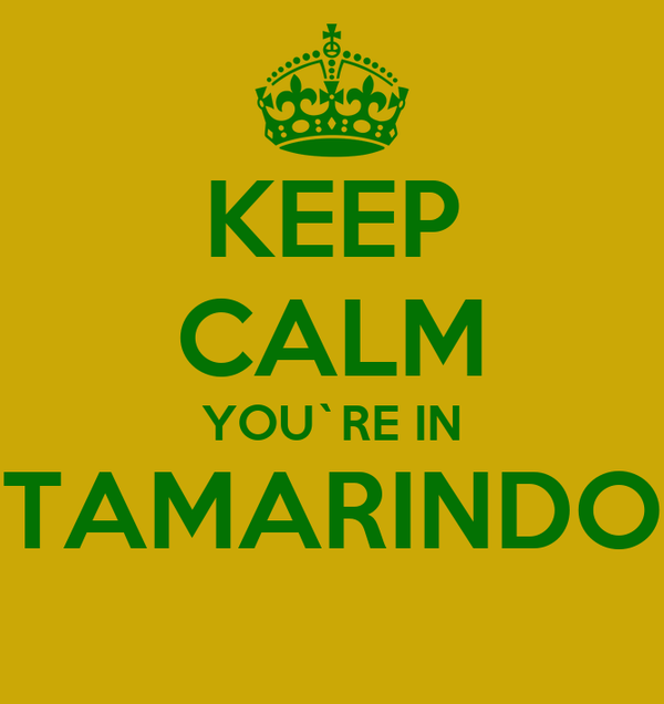 KEEP CALM YOU`RE IN TAMARINDO