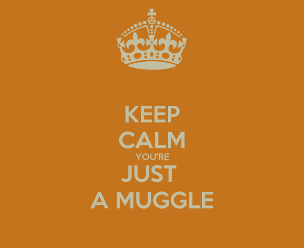 KEEP CALM YOU'RE JUST  A MUGGLE