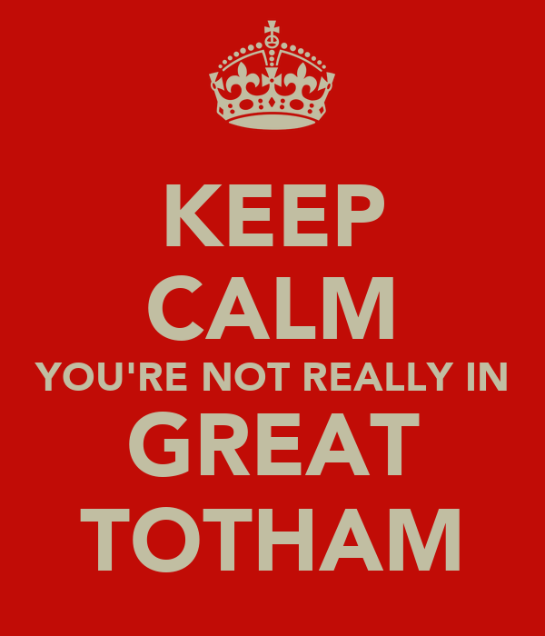 KEEP CALM YOU'RE NOT REALLY IN GREAT TOTHAM