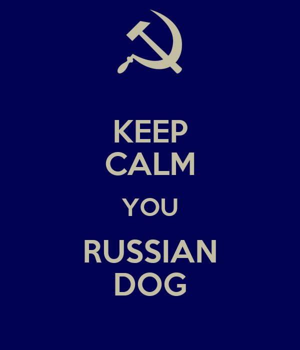 KEEP CALM YOU RUSSIAN DOG