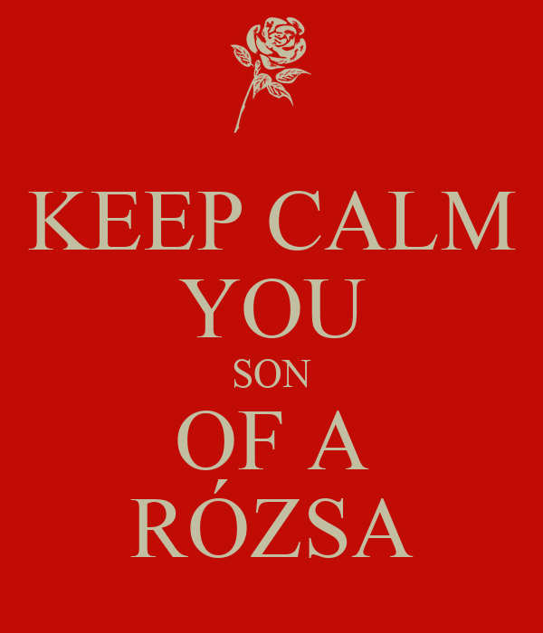 KEEP CALM YOU SON OF A RÓZSA