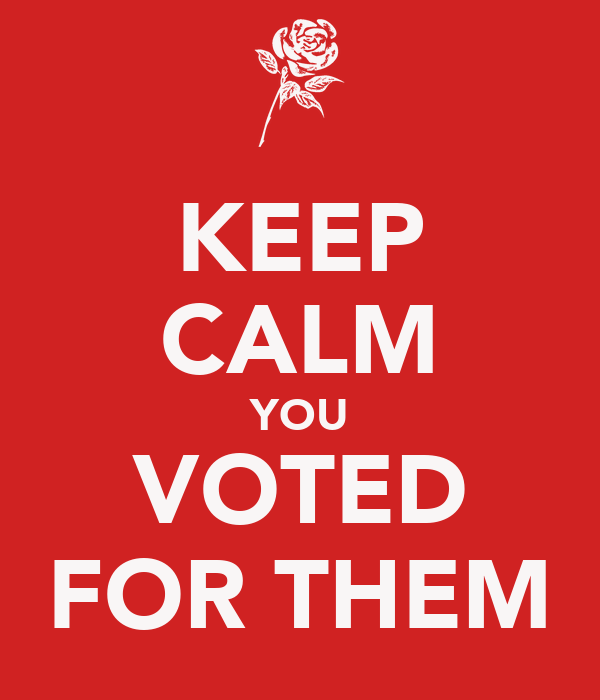 KEEP CALM YOU VOTED FOR THEM