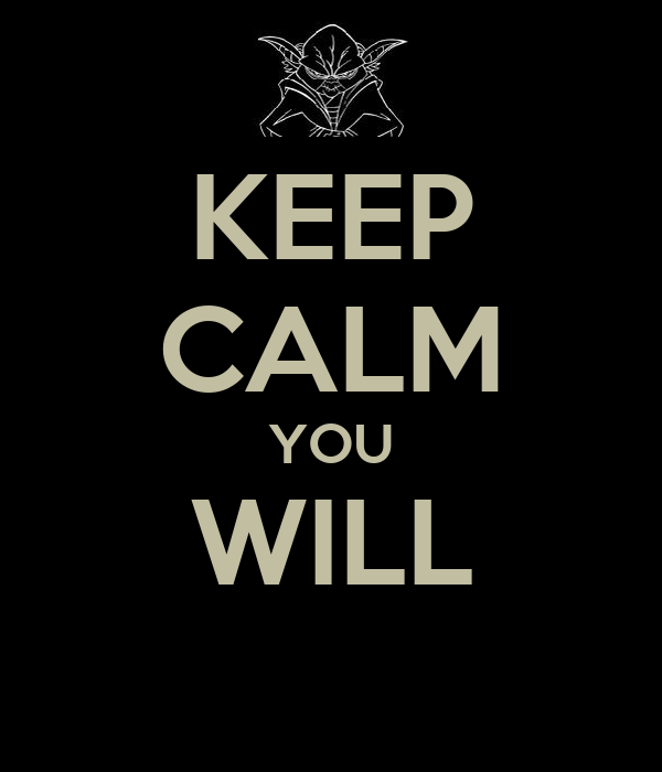 KEEP CALM YOU WILL