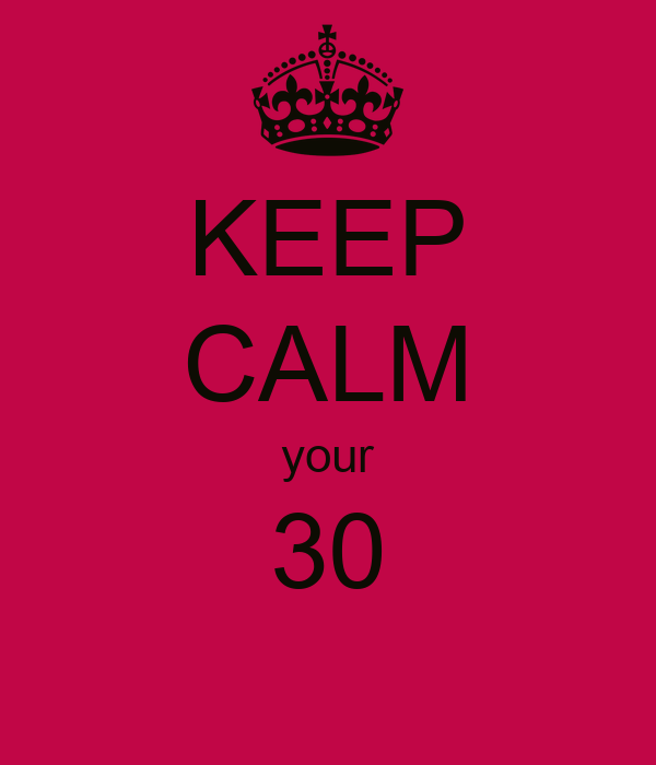 KEEP CALM your 30