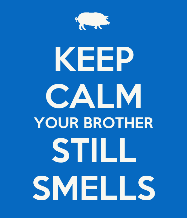 KEEP CALM YOUR BROTHER STILL SMELLS