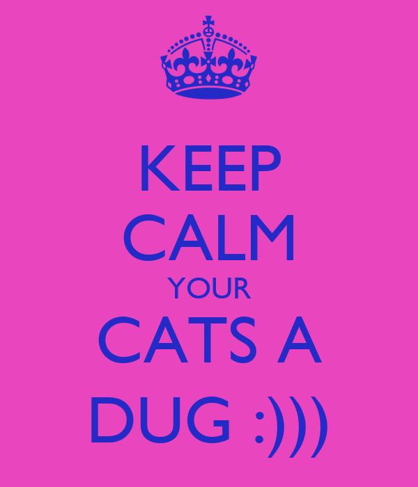 KEEP CALM YOUR CATS A DUG :)))