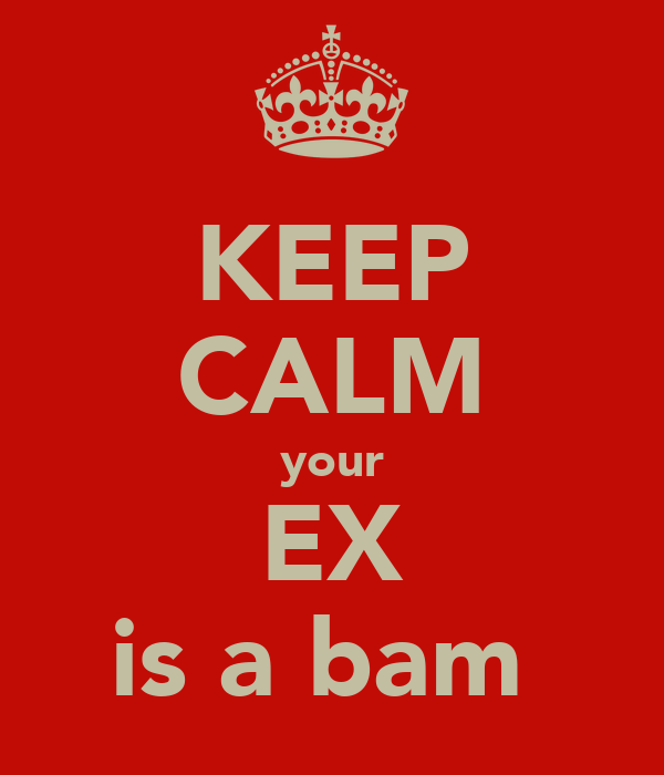 KEEP CALM your EX is a bam