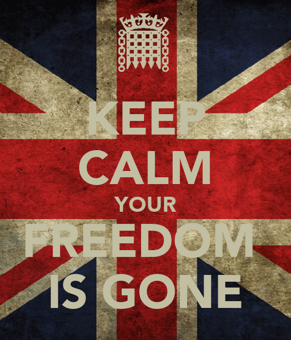 KEEP CALM YOUR FREEDOM  IS GONE