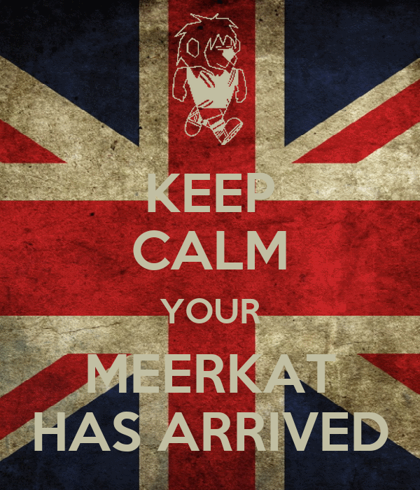 KEEP CALM YOUR MEERKAT HAS ARRIVED