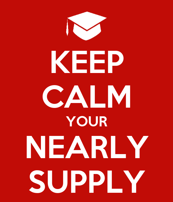 KEEP CALM YOUR NEARLY SUPPLY