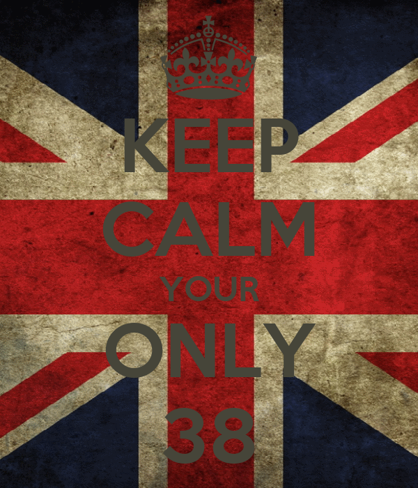 KEEP CALM YOUR ONLY 38