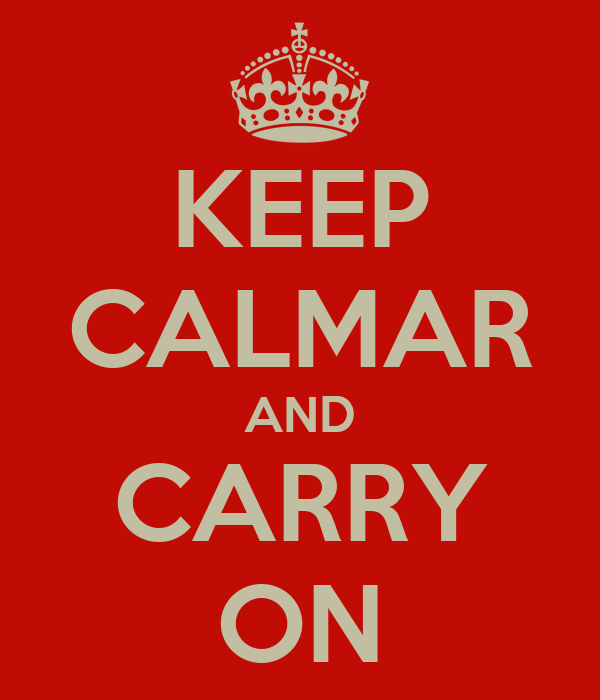 KEEP CALMAR AND CARRY ON