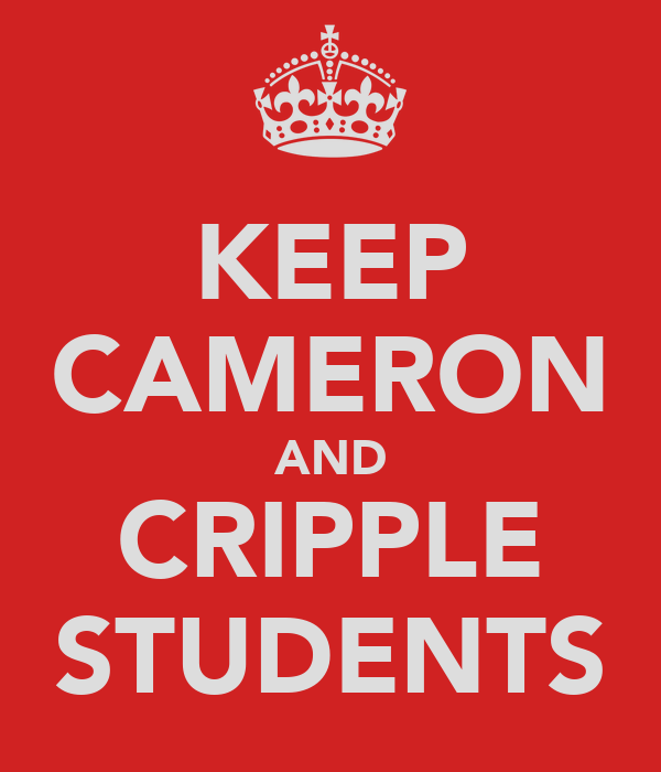 KEEP CAMERON AND CRIPPLE STUDENTS