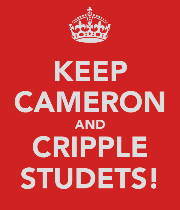 KEEP CAMERON AND CRIPPLE STUDETS!