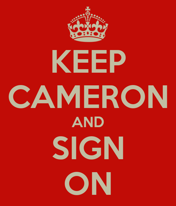 KEEP CAMERON AND SIGN ON