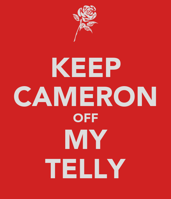 KEEP CAMERON OFF MY TELLY