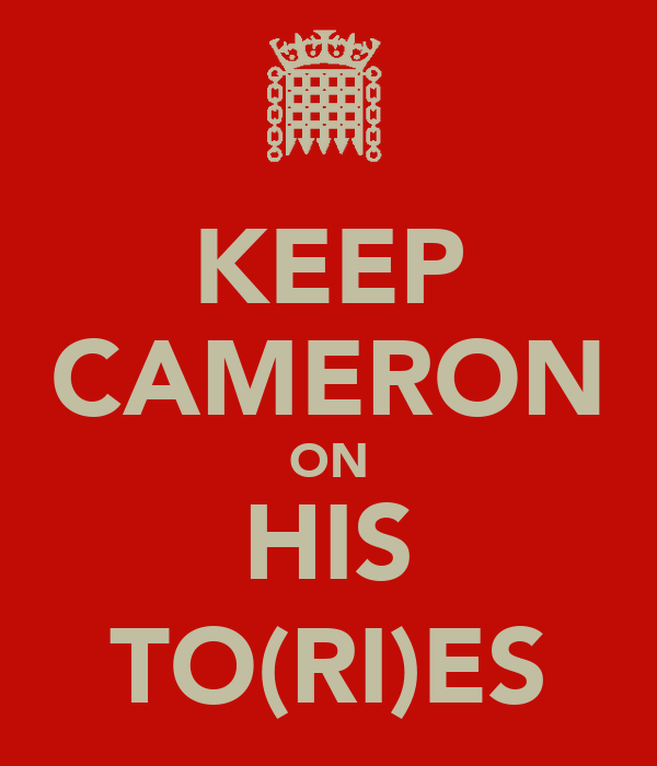 KEEP CAMERON ON HIS TO(RI)ES