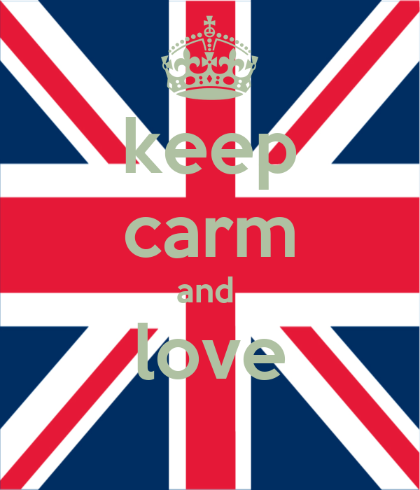 keep carm and  love
