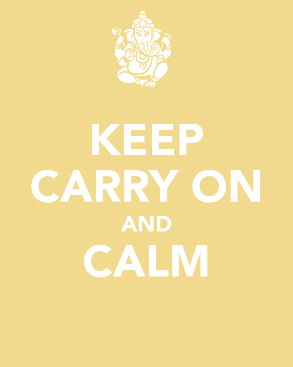 KEEP CARRY ON AND CALM