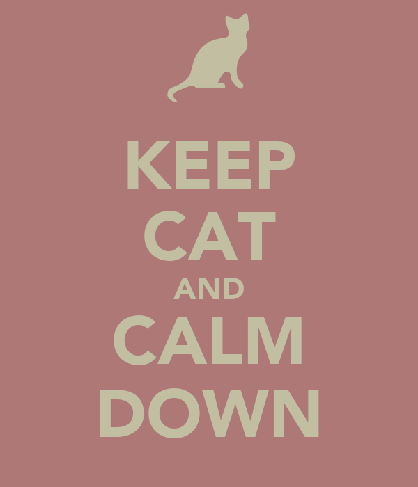 KEEP CAT AND CALM DOWN