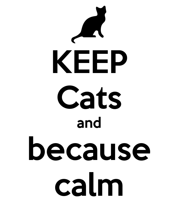 KEEP Cats and because calm