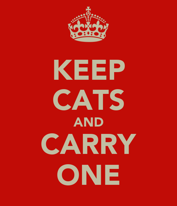 KEEP CATS AND CARRY ONE
