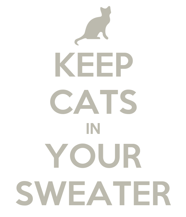 KEEP CATS IN YOUR SWEATER