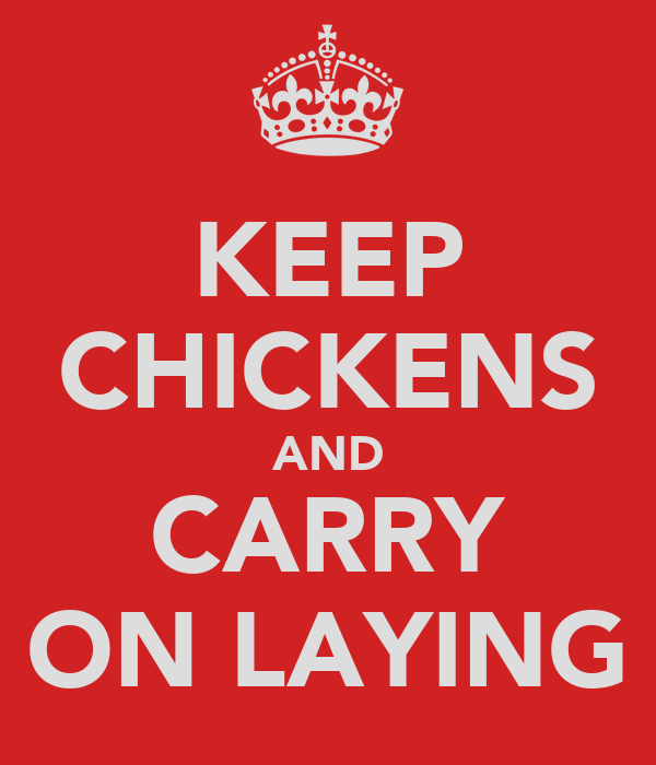 KEEP CHICKENS AND CARRY ON LAYING