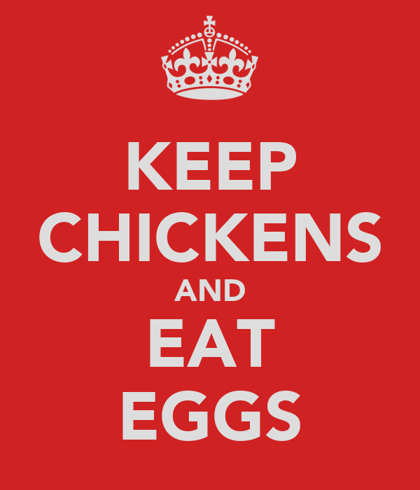 KEEP CHICKENS AND EAT EGGS