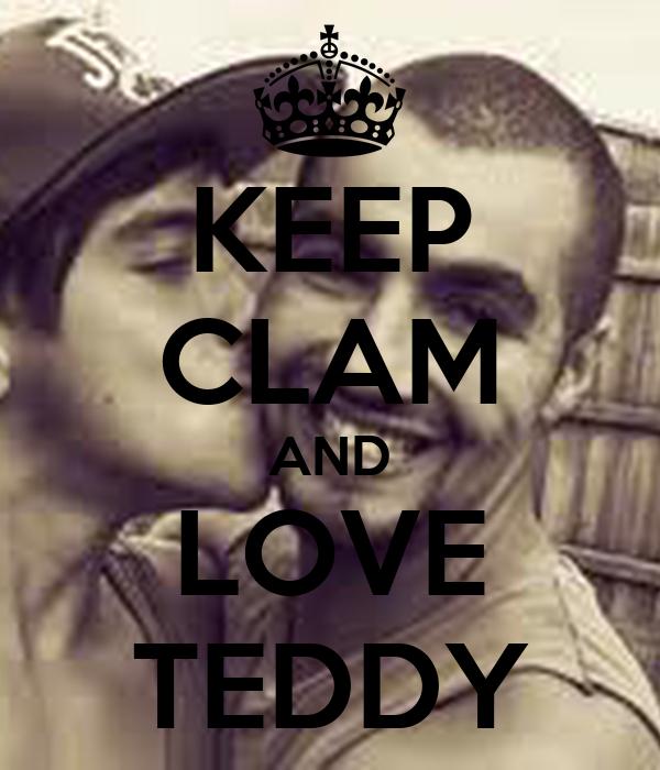KEEP CLAM AND LOVE TEDDY