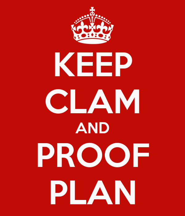 KEEP CLAM AND PROOF PLAN