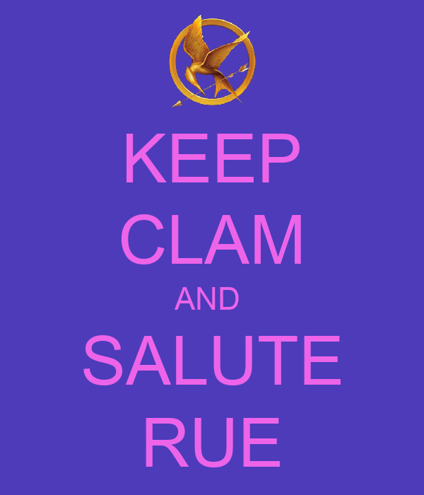 KEEP CLAM AND  SALUTE RUE