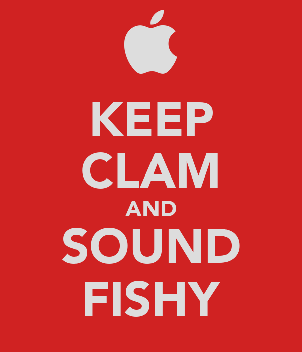 KEEP CLAM AND SOUND FISHY