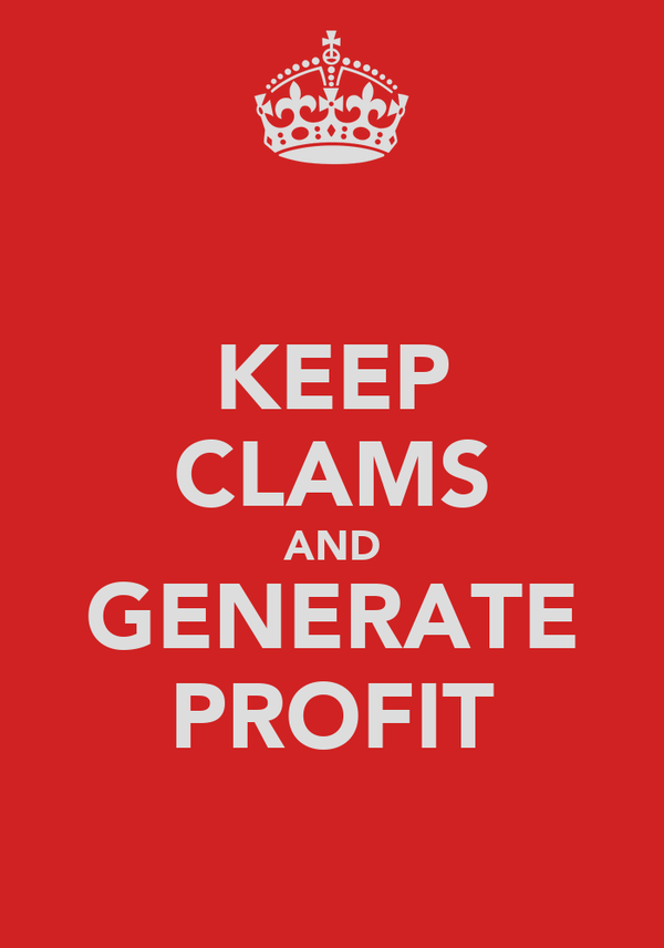 KEEP CLAMS AND GENERATE PROFIT