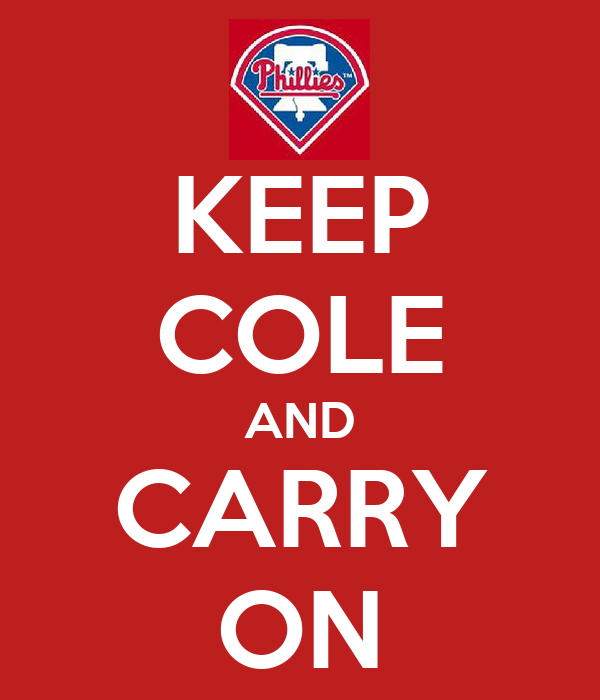 KEEP COLE AND CARRY ON