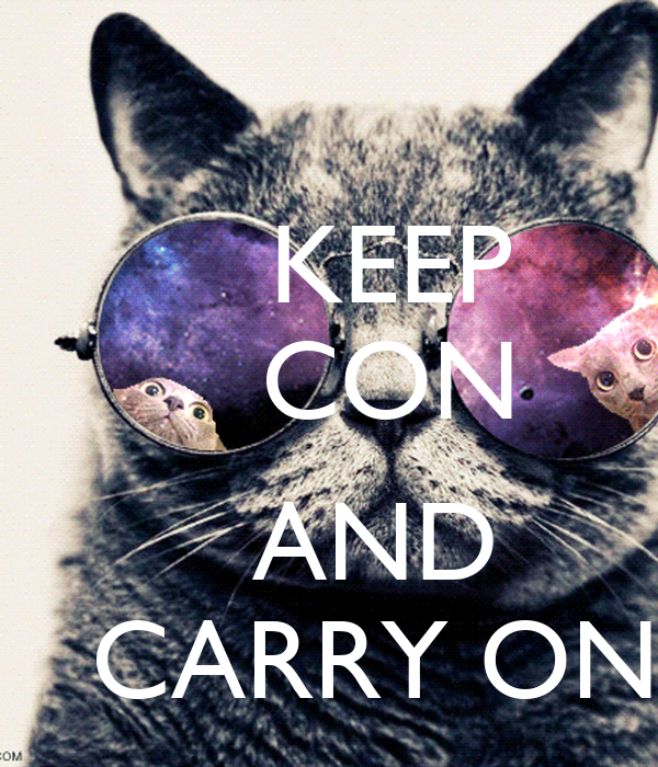 KEEP     CON         AND    CARRY ON