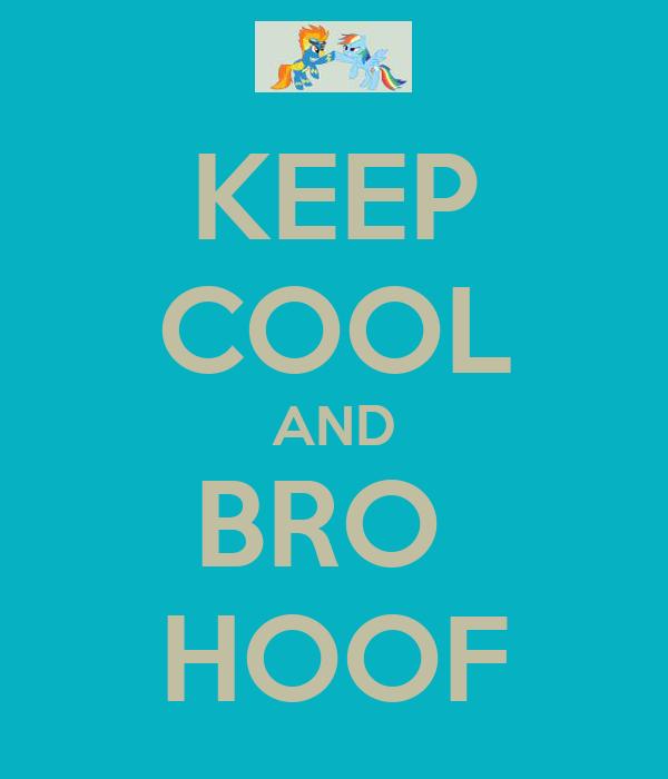 KEEP COOL AND BRO  HOOF