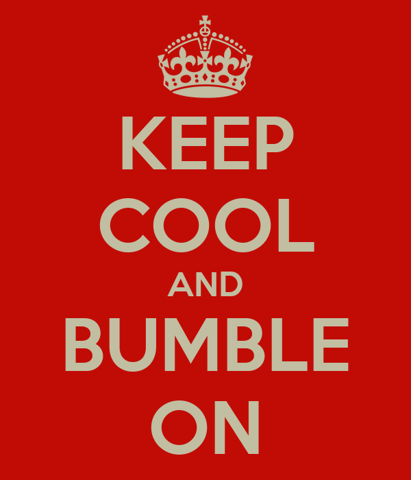 KEEP COOL AND BUMBLE ON
