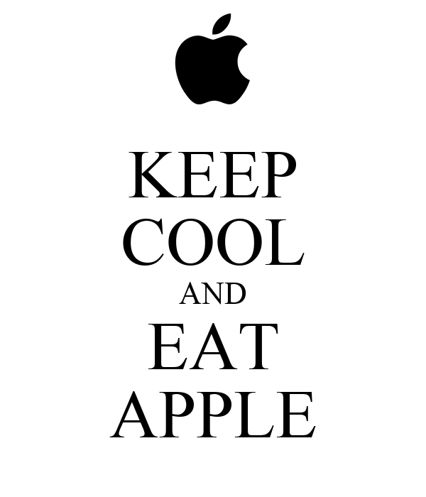 KEEP COOL AND EAT APPLE