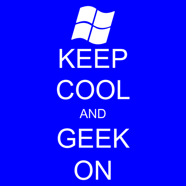 KEEP COOL AND GEEK ON